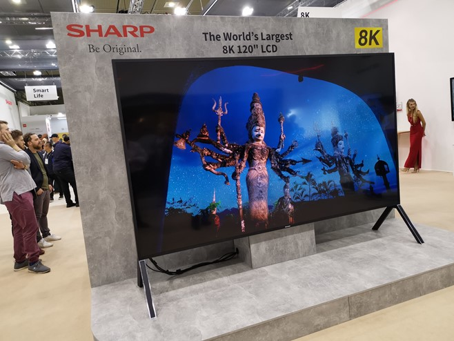 Sharp showcases 8k+5G for education and science