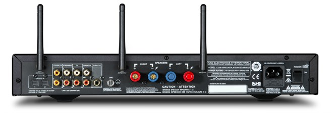 NAD_C338_Rear -Antennas Chromecast Amp