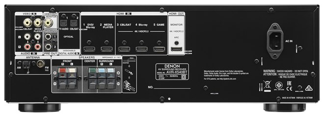 Denon _avr _x 540bt Rear