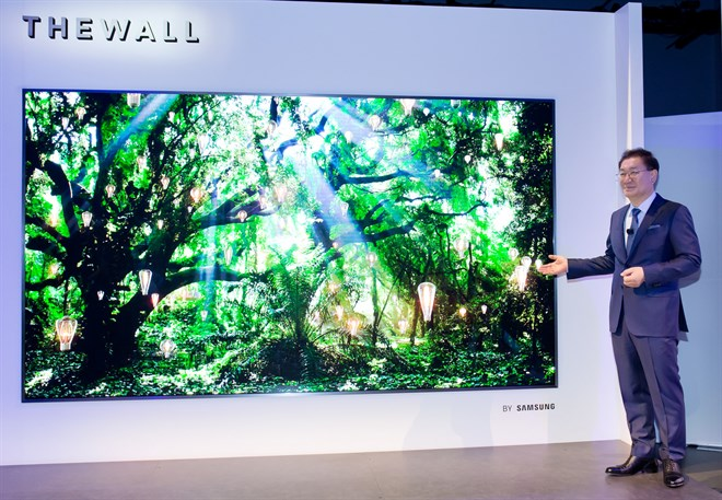 Samsung Unveils The Wall, the World's First Modular MicroLED 146-inch TV