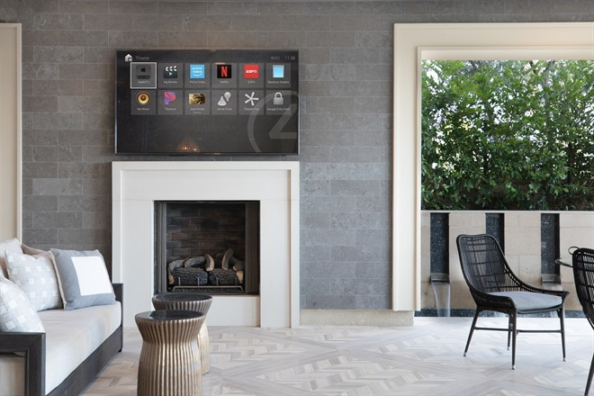 Control 4 - Smart Home OS 3 - Entertainment On Screen In Living Room